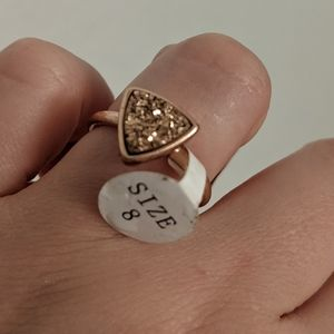 NWT Fragrant Jewels Ring Size 8 Gold Glitter